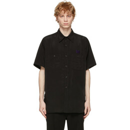 Needles Black Satin Work Shirt IN136