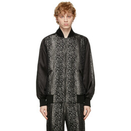 Needles Black Jacquard Award Jacket IN080