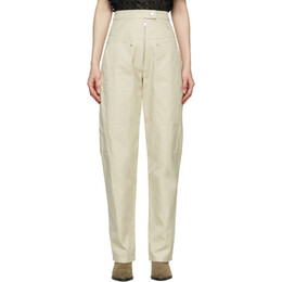 Isabel Marant Etoile Off-White Phil Trousers 21PPA1848-21P004E