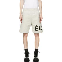 Etudes Grey Tempera Shorts E18M-610-05