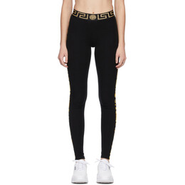 Versace Underwear Black Greca Border Leggings AGD03007_A233305_A100