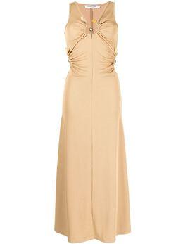 Christopher Esber декорированное платье без рукавов SS21D23