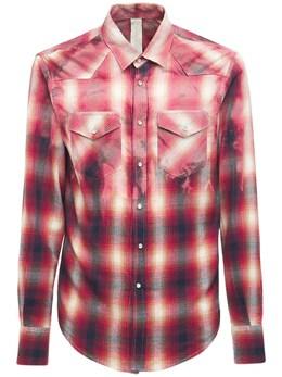 Фланелевая Рубашка Из Хлопка Giorgio Brato 73I0AQ010-VkFSIDQgVVA1