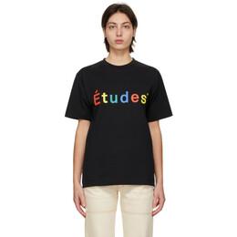 Etudes Black Wonder T-Shirt E18M-427-01