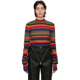 Y / Project Multicolor Retro Rainbow Maxi Sleeve Sweater MPULL43-S20