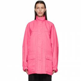 Balenciaga Pink Light Ripstop Parka 647646 TYD33