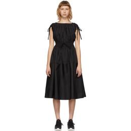 Moncler Black Poplin Drawstring Dress G10932G71210549D1