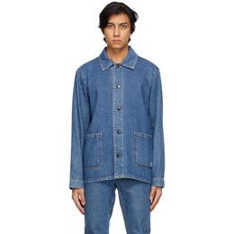 A.P.C. Blue Denim Kerlouan Jacket COEJU-H03053