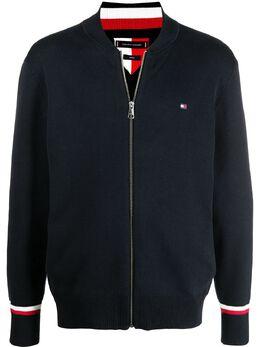 Tommy Hilfiger куртка на молнии с нашивкой-логотипом MW0MW17359