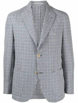 Eleventy пиджак с узором в елочку C75GIAC12TES0C089