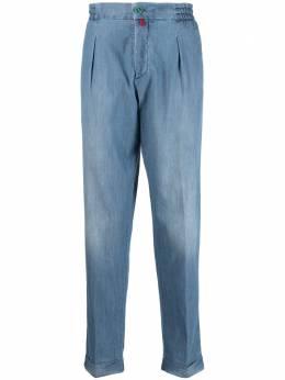Kiton прямые брюки из ткани шамбре UFP1LACJ07T23