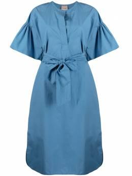 Nude платье с объемными рукавами 1103522