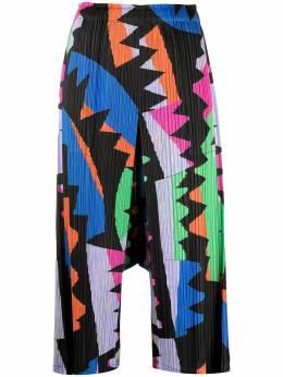 Pleats Please Issey Miyake плиссированные широкие брюки с завышенной талией PP16JF726