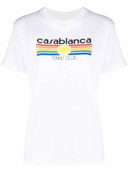 Casablanca футболка с короткими рукавами и логотипом WS21TS002