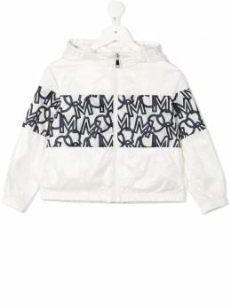 Moncler Enfant куртка с капюшоном и монограммой G19541A74310539ST