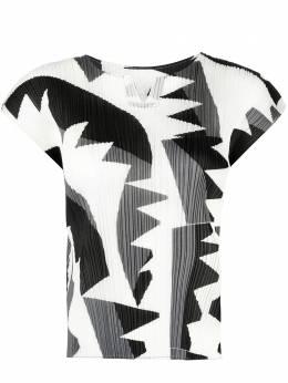 Pleats Please Issey Miyake плиссированная блузка с графичным принтом PP16JK723