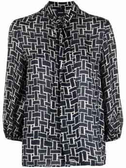 Aspesi блузка с завязками и геометричным принтом 5402G405