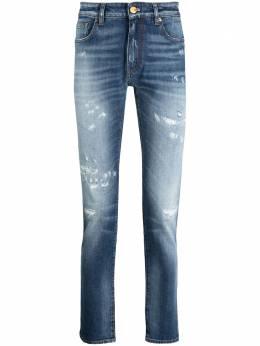 Pt05 джинсы скинни с эффектом потертости C5EKJ05Z30STYCA42