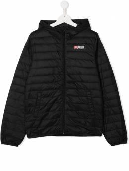 Diesel Kids стеганая куртка на молнии 01J4W5KXB4P