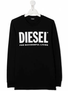 Diesel Kids толстовка с круглым вырезом и логотипом 01J4Y000YI9