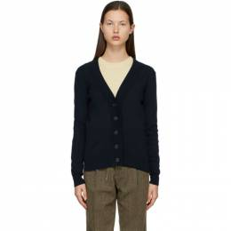Maison Margiela Navy Fitted Classic Cardigan S51HA1110