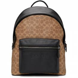 Coach 1941 Tan and Black Signature Charter Backpack C2670JILK4