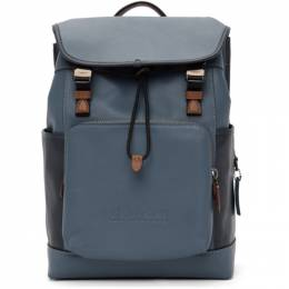 Coach 1941 Blue Colorblock League Flap Backpack C2662JISB1