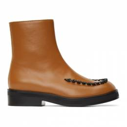 J.W. Anderson Brown Stitch Ankle Boots ANW36004A 13010