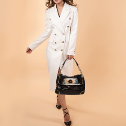 Anya Hindmarch Dark Brown Python Leather Shoulder Bag 389974