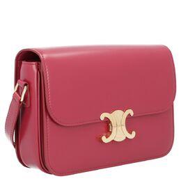 Celine Red Leather Triomphe Medium Bag 389879