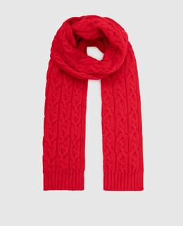 Детский красный шарф из кашемира Loro Piana 2300005468217