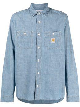 Carhartt Wip джинсовая рубашка с нашивкой-логотипом I029185