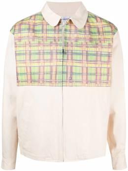 Comme Des Garcons Pre-Owned куртка-рубашка 2000-х годов с клетчатой вставкой CMM450C