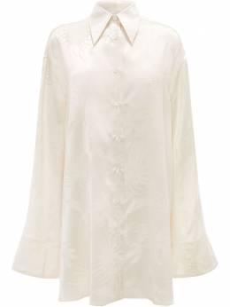 J.W. Anderson жаккардовая рубашка-туника с цветочным узором SH0106PG0498002
