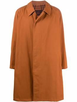Burberry Pre-Owned однобортное пальто 1990-х годов BR480ER