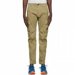 C.P. Company Beige Stretch Sateen Garment-Dyed Cargo Pants 10CMPA151A-005694G