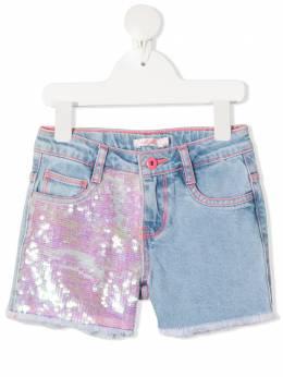 Billieblush джинсовые шорты с пайетками U14426