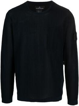 Stone Island Shadow Project свитер с нашивкой-логотипом 7419505A3