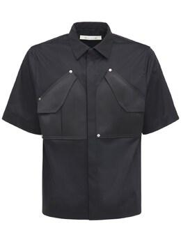 Рубашка Из Хлопка С Карманами-карго 1017 Alyx 9Sm 73IY4W005-QkxLMDAwMQ2