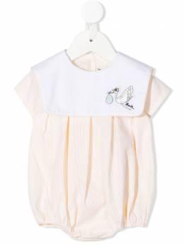 Fendi Kids боди с вышивкой BUL055AEYK