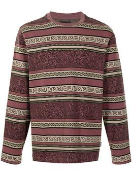 Stussy футболка Sumatra с длинными рукавами и геометричным узором 1140231