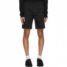 Norse Projects Black Twill Aros Light Shorts N35-0237