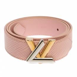 Louis Vuitton Rose Ballerine Epi Leather Twist Belt 85CM 391100