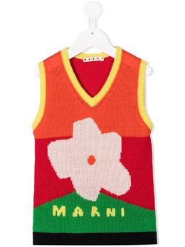 Marni Kids джемпер вязки интарсия без рукавов M00057M00J5