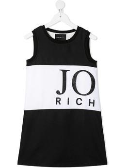 John Richmond Junior платье с логотипом из стразов RGP21131VEHB