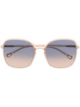 Chloe Eyewear солнцезащитные очки Franky в квадратной оправе CH0031S