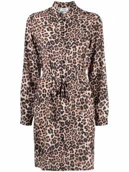 Liu Jo платье-рубашка с леопардовым принтом WA1586T9147