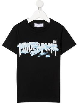 Philipp Plein Junior футболка с графичным принтом и логотипом PAACBTK1075PTE003N