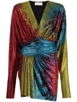 Alexandre Vauthier платье с драпировкой и пайетками 211DR1444B1029T211