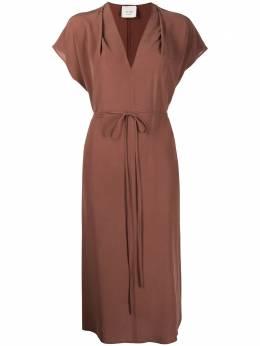 Alysi платье с завязками и V-образным вырезом 101319P1209